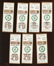 1974-75 NBA Basketball Boston Celtics Full Tickets 7 Different