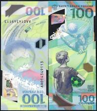 Russia, 100 rubles, 2018, FIFA World Cup in Russia 2018, polymer banknote, New