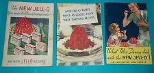 vintage JELLO RECIPE BOOKLETS set of 3 different 1932-1934