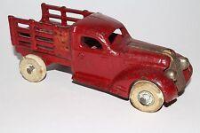 1930's Arcade Pontiac Cast Iron Stake Truck, 6 Inch Size