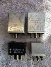 Mercedes-Benz, 3 Relays: 002-821-01-51, 001-542-02-19, 1 Switch: 000-820-59-10