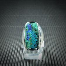 Ring Gr. 58, Silber 925, mit einem Azurit/Malachit Cabochon aus Arizona