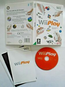 Wii Play - Complete with Manual + 9 Games Darts Fishing Shooting Tab Tennis etc