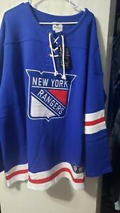 New York Rangers NHL Fanatics Jersey Fleece Blue Mens 3XL/3TG