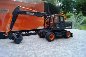 UH  Doosan DX 160 W Mobilbagger Black Edition limitiert 1:50 NEU in OVP
