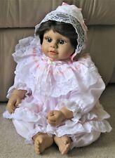 """2000 Heritage Mint Baby Doll 20"""" Girl Brown Eyes Hair Jointed Vinyl"""