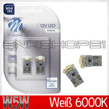 2x T10 W5W Lampe Standleuchte M-Tech OSRAM L-E-D Licht Weiß 6000K Mercedes-Benz