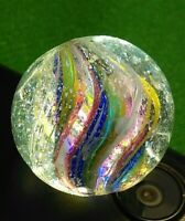 """.83"""" LG Gorgeous Early EOD Triple Layer Divided Rainbow Ribbons German Marbles"""