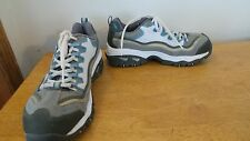 Skechers Shoes: Women's Blue Gray/White Steel Toe EH Shoes work size 7.5