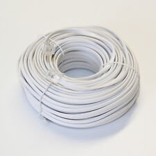 100' FT RJ11 Modular Telephone Extension Phone Cord Cable Line Wire White CM-326