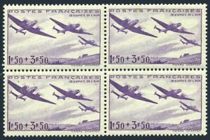 France B130 block/4,MNH.Michel 551. Planes over fields,1942