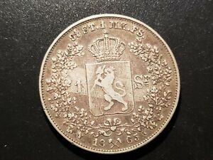 1865 Norway Speciedaler Scarce KM325