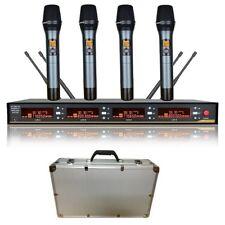 UHF Wireless Microphone Karaoke system 4 Channels cordless microphone Diversity