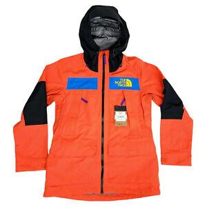 The North Face TNF Womens Medium Team Kit Ski Snowboard Hood Jacket Orange