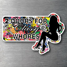 Sticker Bomb 2 Doors Sticker Premium water/fade proof 7 yr vinyl  JDM drift