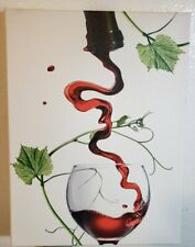 Nuolan Art 2 Canvas Pouring Red Wine into a Glass Wall Art 16x12