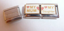 MUM DAUGHTER 9mm Italian Charm + 1x Genuine Nomination Classic Link I LOVE MY