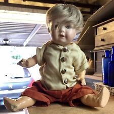 Vintage 1920's Bisque Character BOY Doll - NELSON - Made in Germany - MOA