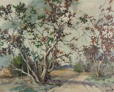 Florence Young, (1872 - 1974 Alhambra, CA), Sycamores in a landscape... Lot 2042