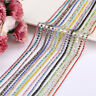 1 Meter Clear Crystal Glass Rhinestone Compact Close Silver Chain Trims Applique