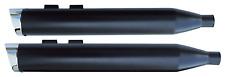 "USA-1 BLACK 4"" SLIP-ON MUFFLERS HARLEY ELECTRA GLIDE ROAD KING STREET CVO ULTRA"