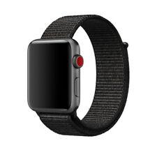 42mm Black Nylon Woven Sport Loop Bracelet Watch Band Strap For Apple Watch RF