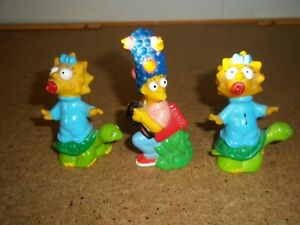 1990 Maggie & Marge Simpson pencil topper Burger King Toy.