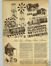 1952 PAPER AD Tinkertoys Blocks City Clear Hand Crank Spools Rods Birch Plastic