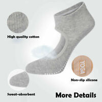 1 Pair Cotton Socks Non Slip Yoga Pilates Barre Grips Ballet Sock For Womens Gym