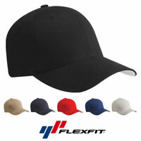 Flex Fit 5001 V-Flexfit Cotton Baseball Cap Fitted Ballcap Plain Blank Hat