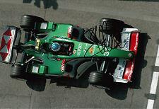 Bjorn WIRDHEIM JAGUAR RACING f1 hand signed 12x8 FOTO 3.