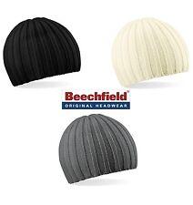 Strickmütze Wintermütze Beechfield Chunky Knit Beanie Slouch 3 Farben NEU flach