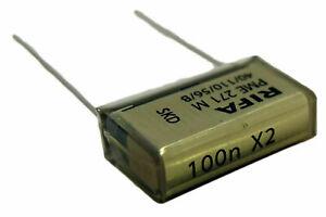 1 condensateur RIFA PME 271 M X2 0,1µF 0.1µF 100nF 100n 275V 15.2mm