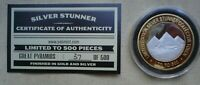1 OZ  SILVER STUNNER TOKEN GREAT PYRAMIDS LIM ED  37  OF 500 GOLD & SILVER