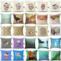 Cover Superhero Home  Fat Linen Decoration Case Pillow Cartoon Decor Cushion