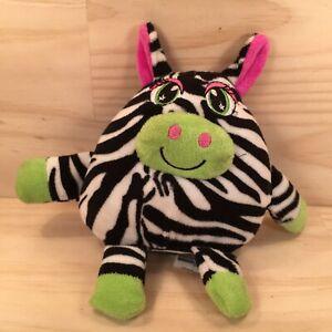 "GIGGLING ZEBRA ""Black"" Beautiful Noise Making Animal Soft Toy Stuffed Friend"