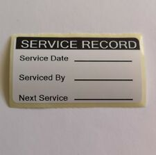 x100 Service Record Stickers Next Service Reminder Labels