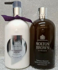 Molton Brown Tobacco Absolute Bath Shower Gel & Muddled Plum Body Lotion 2x300ml