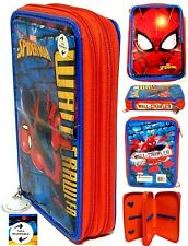 "Marvel Spider-Man  Wall Crawler Reversible 3-Zip Pencil Case (8"" x 5"" x 2"")NWT"