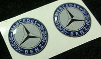 2 Adesivi Resinati Sticker 3D MERCEDES 40 mm