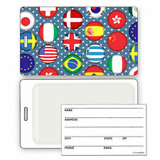 Luggage Bag Travel Tag with 3D Country Flags Effect Lenticular #LT01-191#