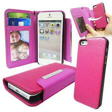 PU Leather Wallet Case with Detachable Hard Case For Various Phone Models