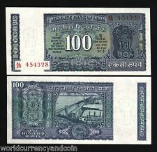 INDIA 100 RUPEES P64 C 1977 DAM MN SIGN UNC BILL WORLD PAPER MONEY BANK NOTE
