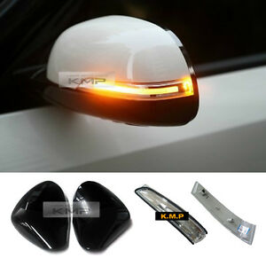 Genuine Side Mirror Cover Painted + LED Repeater Light For KIA 2014-2018 Soul