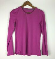 Nike Dri-fit Women's Size S Pink Long Sleeve Athletic Running Shirt