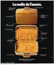 PUBLICITE ADVERTISING 095  1973  SAMSONITE   la maille  SILHOUETTE 100
