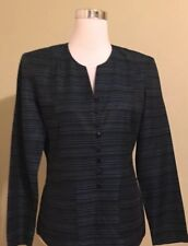 Dani max womens jacket blazer suit top size 8 black and green