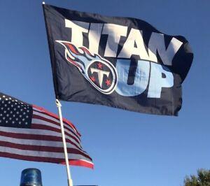 Tennessee Titans Flag Banner 3x5 Ft NFL Football Super Bowl Titan Up Sports Team
