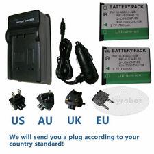 2X LI-42B LI-40B LI42B LI40B BATTERY + charger FOR OLYMPUS FE-230 FE-240 CAMERA