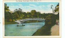 ALBANY, NEW YORK-THE BRIDGE-WASHINGTON PARK--W/B--(NY-A)